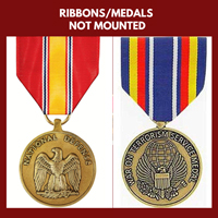 RIBBONS AND MEDALS:  (NOT MOUNTED)